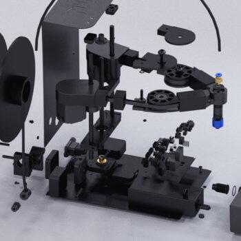 Einzelteile des Plybots