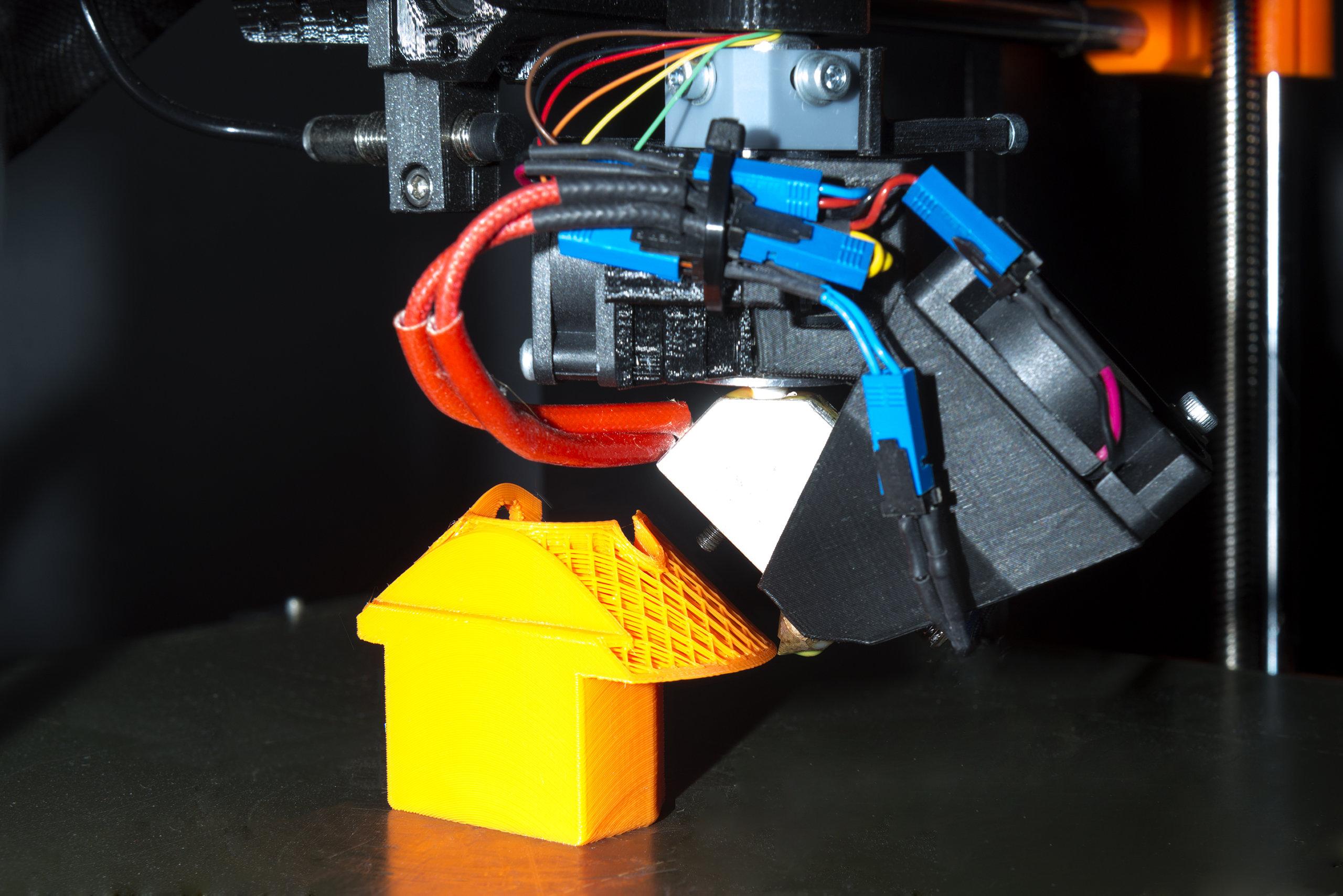 Nahaufnahme 3D-Drucker mit RotBot-Technik