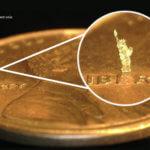 3D-gedruckte Freiheitsstatue auf Münze