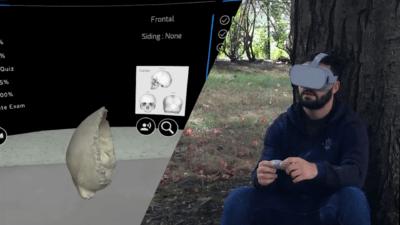 Knochen erleben im VR-Kurs