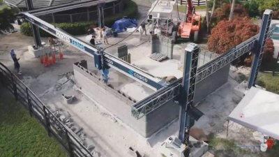 Luftaufnahme Hausbau-3D-Drucker