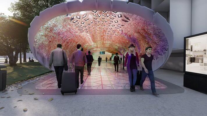 3D-gedrucktes Dach Bahnhof Euston