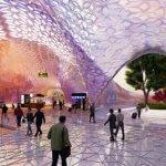 3D-gedrucktes Dach für den Euston Bahnhof Innenansicht