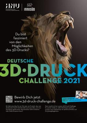 3D-Druck-Challenge 2021 Plakat