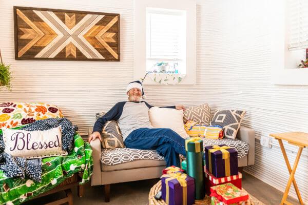 Tim Shea in seinem neuen Heim