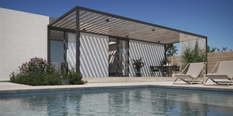 3D-Druck-Haus mit Pool