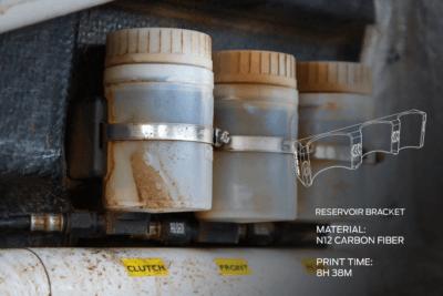 3D-gedruckte Halterung von Prodrive