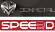 3D in Metal und SPEE3D Logos