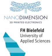 Nano Dimension und FH Bielefeld Logos
