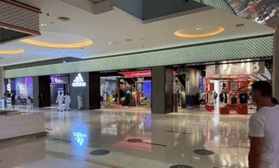 Neuer adidas Flagship Store in der Dubai Mall Außenansicht