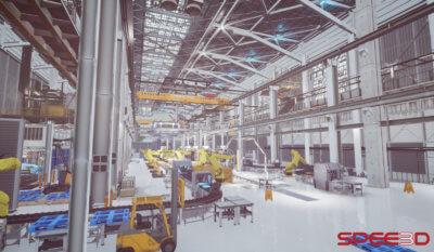 3D-Druck-Simulator Ansicht Fabrik