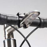 3D-gedruckte Halterung auf Fahrrad