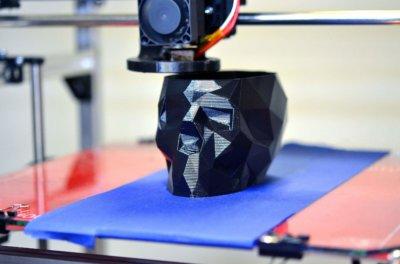 Totenkopf aus dem 3D-Drucker