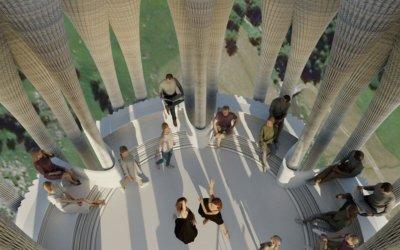 """3D-Druck """"Weißer Turm"""" Bühne innen"""