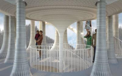 """3D-Druck """"Weißer Turm"""" Foyer"""