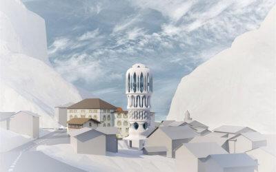 "Modellskizze ""Weißer Turm"""