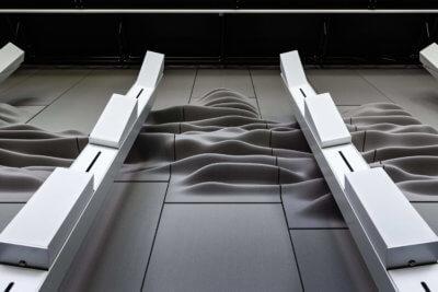 Beispiel 3D-gedruckte Akustikdiffusionsplatten