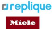 Replique und Miele Logos