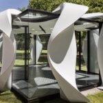 Bürokonzept mit 3D-gedruckten Bodenlinien