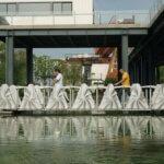 entfaltbare 3D-Druck-Brücke in Wisdom Bay