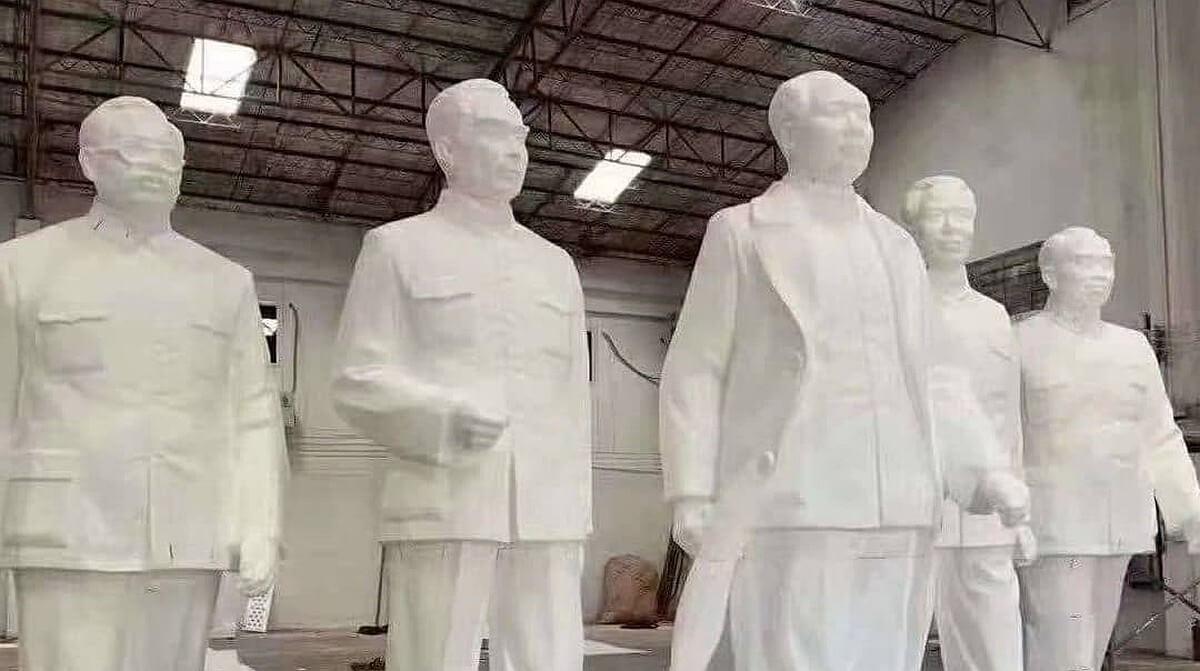 Chinesische Parteichefs als Statuen aus dem 3D-Drucker