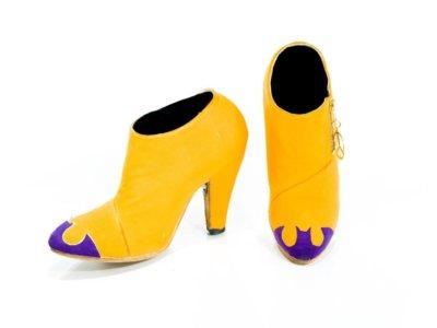Schuhe von Prince in Gelb mit lila Spitzen