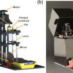Aufbau im Detail und Bild des 3D-Druckers
