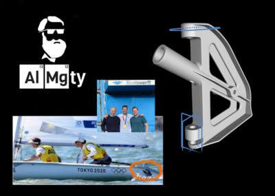 Collage zu 3D-Druck mit AIMgty für australische Segler