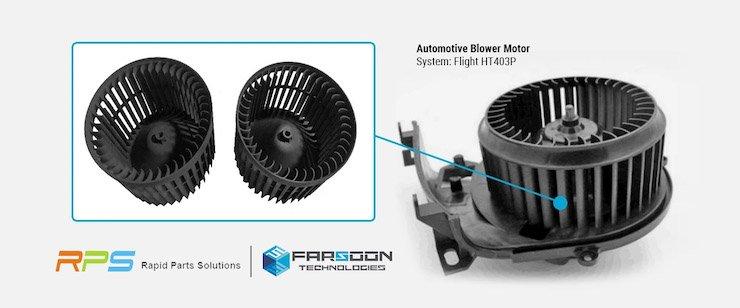 3D-gedruckter Gebläsemotor mit Flight-Technologie gedruckt