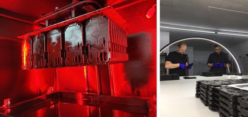 Nachbearbeitung der 3D-gedruckten Adapter