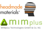Headmade Materials und MIMplus Logos