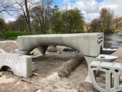 3D-Druck der Brücke in einzelnen Teilen