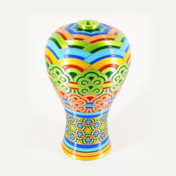 Mehrfarbiges Objekt aus dem 3D-Drucker