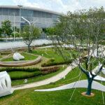 Teilansicht Park im World Exhibition and Convention Center