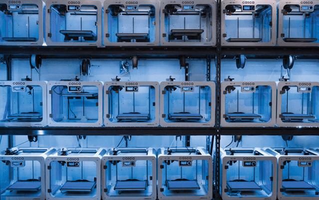3D-Drucker-Farm bei Casca