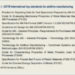 ASTM International key standards for additive manufacturing
