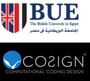 British University in Ägypten und Cosign Logos