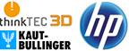 thinkTEC 3D, KAUT-BULLINGER und HP Logos