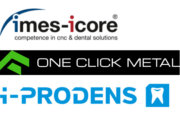 imes-icore, One Click Metal und i-PRODENS Logos