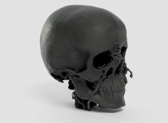 Totenkopf aus Sinterit NILS 480