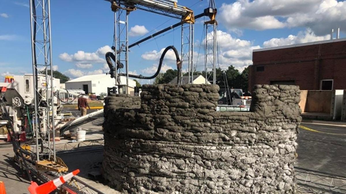 Bau des 3D-Druck-Bunkers