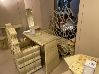 3D-gedruckte Sitzmöbel und Tisch