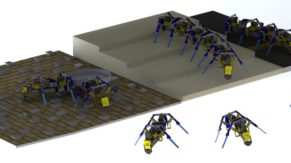 3D-gedruckte Schwarmroboter