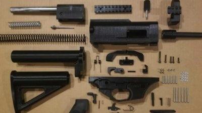 Beschlagnahmtes Gewehr aus 3D-Drucker