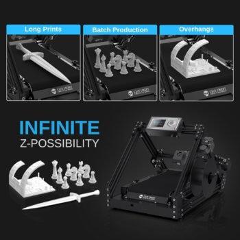 3D-Druck-Beispiele mit dem INFI-20 und Hinweis auf unendliche Z-Achse