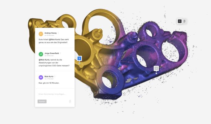 Screenshot Plattform Artec Cloud