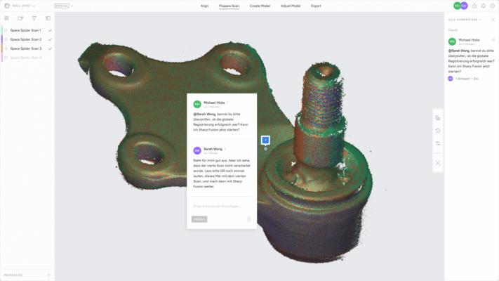 3D-Plattform Artec Cloud