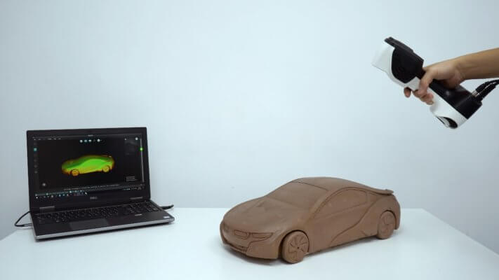 Laptop, Automodell, Scanner