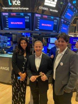 Shapeways beim Public Listing an der NYSE
