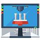 3D-Druckvorlagen-Icon